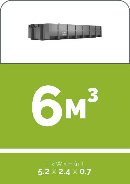 6m3 sized skip bin