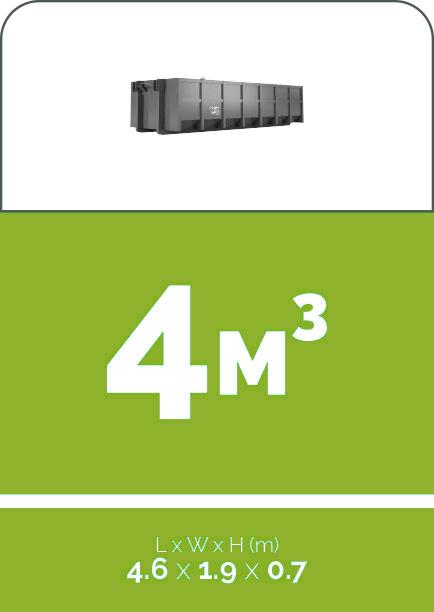 4m3 sized skip bin